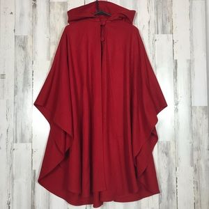 Texas Body Hangings | Red Wool Cape